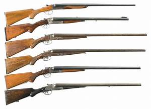 Six Double Barrel Shotguns One Converted to a Rifle -A ...