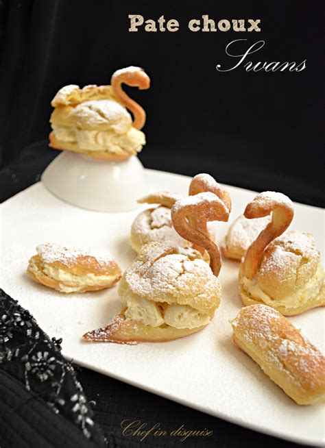 filled pate a choux swans chef in disguise