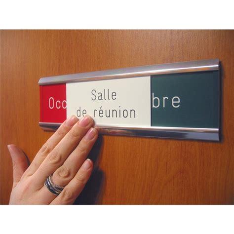 signaletique bureau plaque de porte occupé libre gravée salle de réunion
