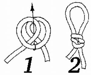 Fisherman39s loop for Bowline knot gif tying bowline knot diagram