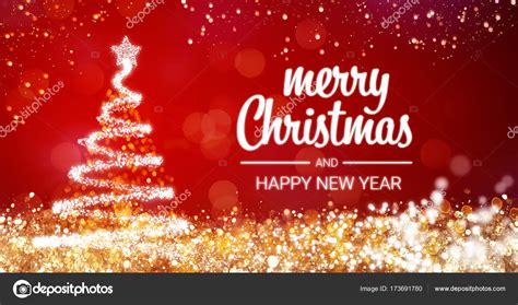 sparkling gold  silver lights xmas tree merry christmas