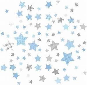 Kinderzimmer Blau Grau : kinderzimmer wandsticker sterne blau grau 68 teilig babyzimmer pinterest kinderzimmer ~ Markanthonyermac.com Haus und Dekorationen