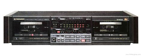 pioneer ct swr manual stereo double cassette deck