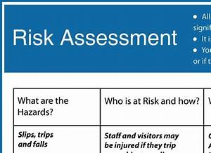 Word Log Template Health And Safety Risk Assessment Form Template