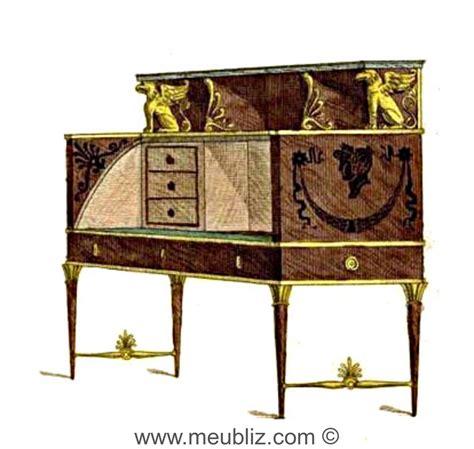 bureau directoire bureau directoire à cylindre et tiroirs en gradin meuble