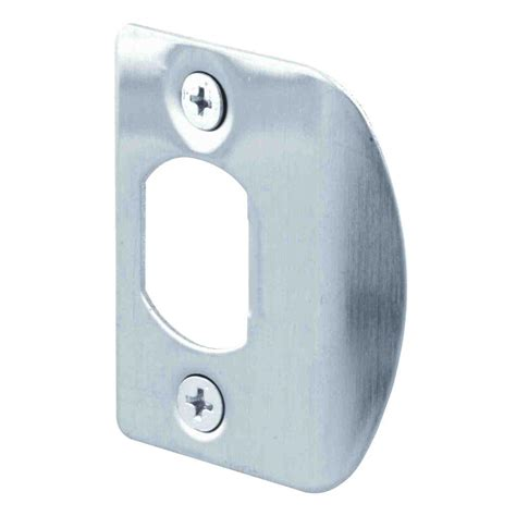 door strike plate prime line stainless steel door jamb strike plate 2 pack