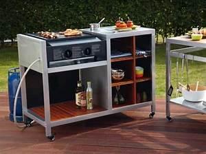 Meuble Pour Plancha : meuble cuisine exterieure inox ~ Melissatoandfro.com Idées de Décoration