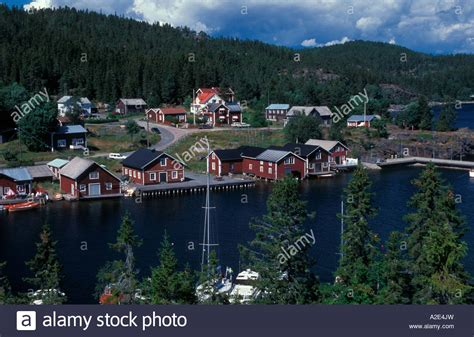 Bonhamn High Coast Sweden Stock Photo