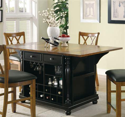 kitchen furniture island 102270 black kitchen island from coaster 102270