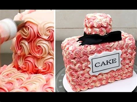 perfume bottle cake buttercream decorating idea