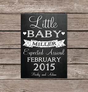 little baby chalkboard pregnancy announcement card or With online baby announcement templates