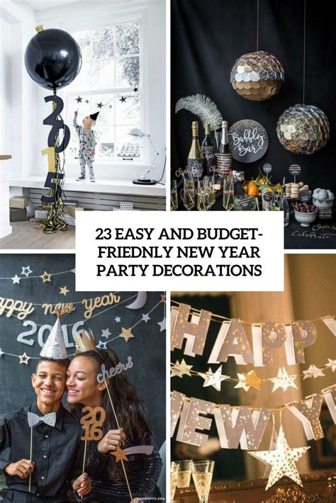 23 Easy And Budgetfriendly New Year Party Decorations