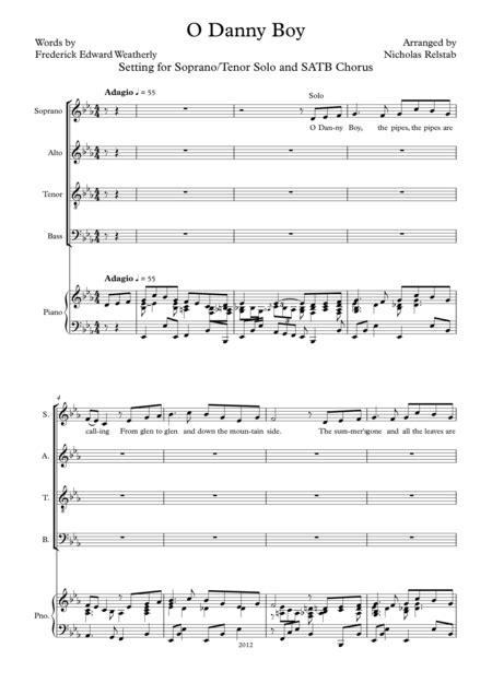 download o danny boy sheet music by frederick edward