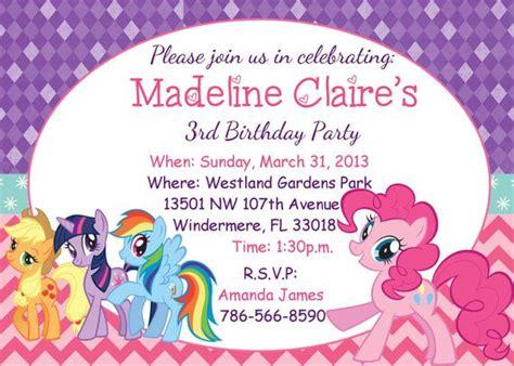 pony birthday party invitations baby shower