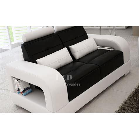 canapé de luxe design canapé design 2 places en cuir salerno