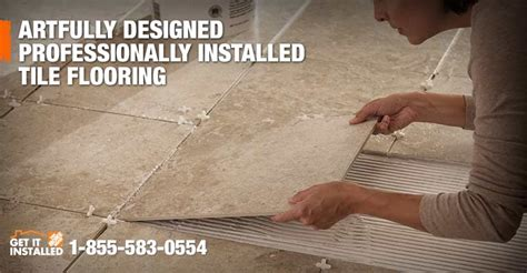 labor cost installation of tile tiling flooring home depot