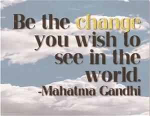 "Free ""Be T... Printable Gandhi Quotes"