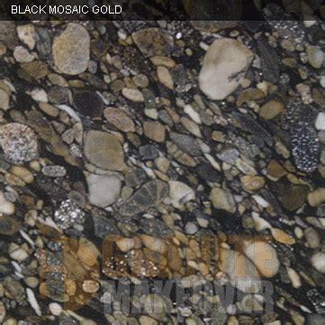 island granite colors black mosaic gold starting