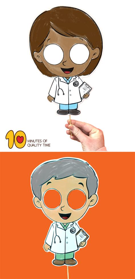 printable doctor mask  minutes  quality time