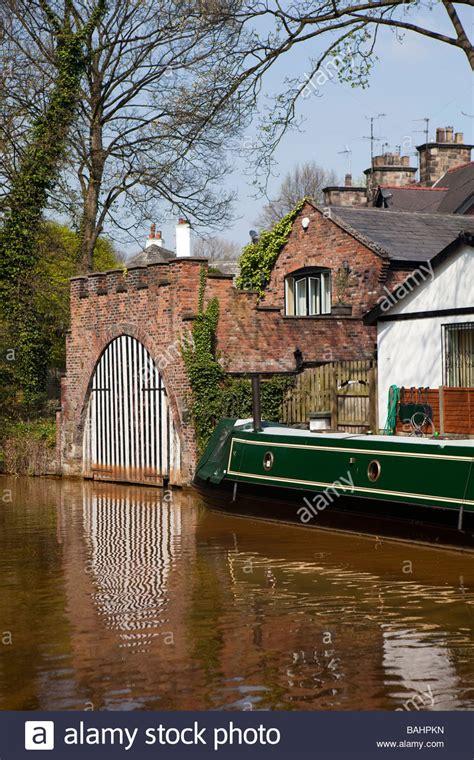 Old Boatyard Worsley by Uk England Salford Worsley Reflection Of Boathouse Doors