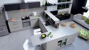 Meuble Cuisine Avec Table Escamotable : vraiment cool meuble cuisine avec table escamotable youtube ~ Melissatoandfro.com Idées de Décoration