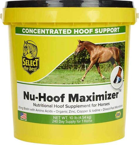 hoof supplement horses nu support maximizer concentrated select