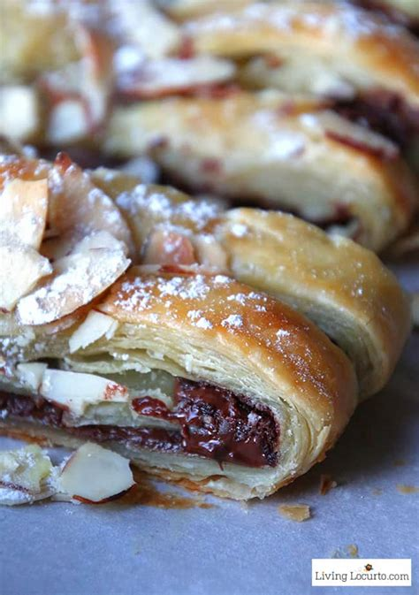 chocolate braid recipe easy puff pastry dessert  breakfast
