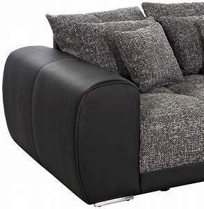 Grand Canapé Droit : grand canap droit byouty noir canap design 4 places ~ Teatrodelosmanantiales.com Idées de Décoration