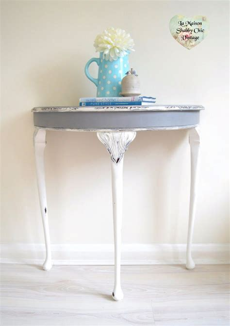 shabby chic half moon table 1000 ideas about shabby chic console table on pinterest tv entertainment units shabby chic
