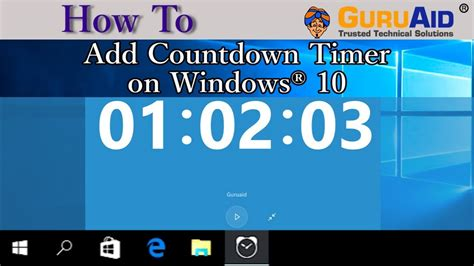 How To Add Countdown Timer On Windows 10