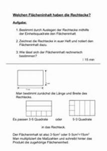 Flächeninhalt Eines Rechtecks Berechnen : 4teachers lehrproben unterrichtsentw rfe und unterrichtsmaterial f r lehrer und referendare ~ Themetempest.com Abrechnung