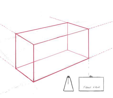 perspective box  draw accessories workroom sketching