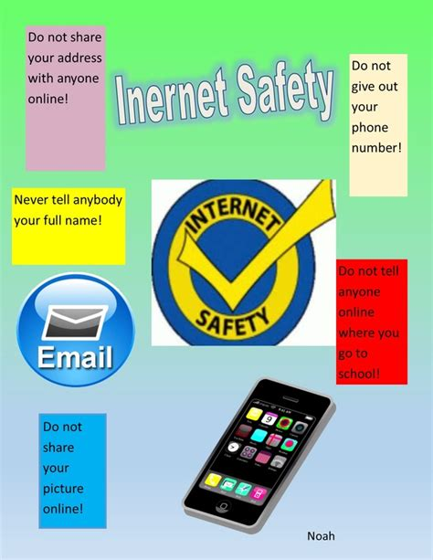 internet safety poster publisher  blooms computer class