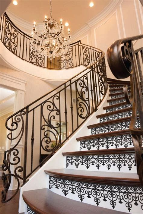 Removable Stair Riser Vinyl Decal by Staircase Riser Vinyl Decal Iron Pattern Removable Stair