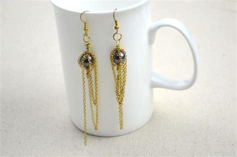 unique jewelry design individual handmade beaded earrings