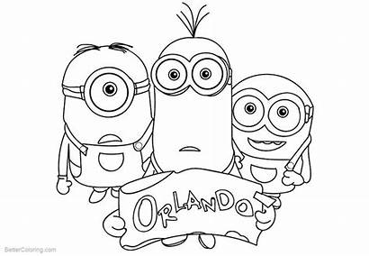 Minion Coloring Pages Take Orlando Printable Adults