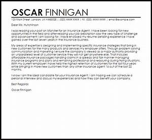 insurance agent cover letter sample livecareer With insurance cover letter