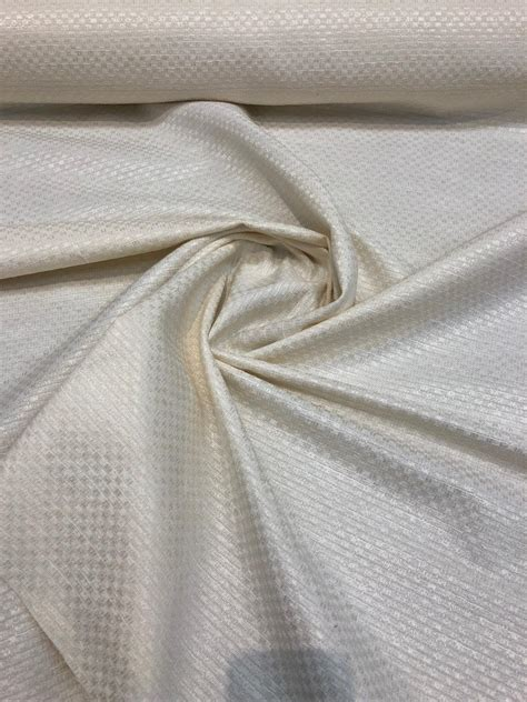 Drapery Fabric By The Yard by Mandalay Buff Woven Linen Look Drapery Upholstery Fabric