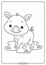 Coloring Pig Pages Printable Whatsapp Tweet Email sketch template