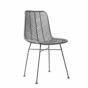 Chaise Rotin Gris : lena chaise rotin tress design bloomingville ~ Teatrodelosmanantiales.com Idées de Décoration