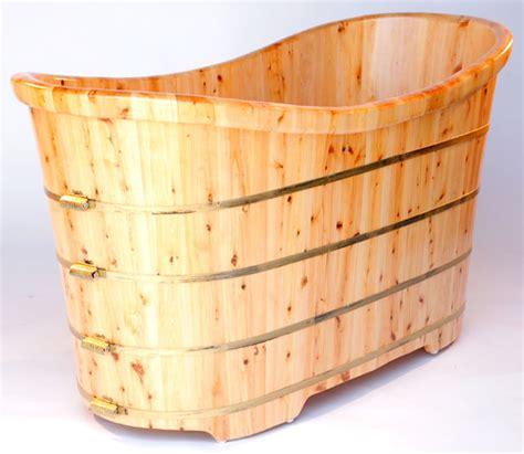 cedar soaking tub alfi ab1105 63 quot free standing cedar wood bath tub asian