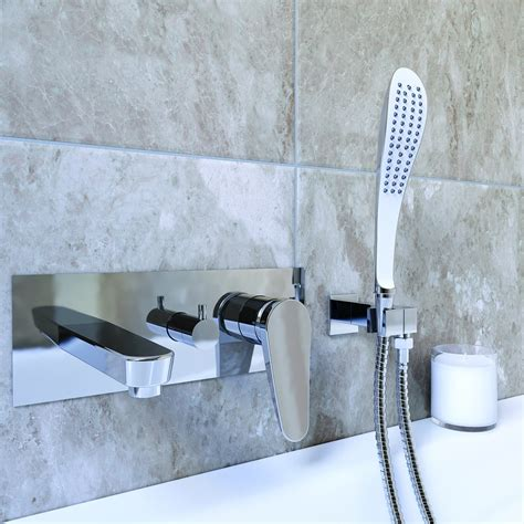 Wall Mounted Bath Filler And Shower by Bristan Claret Bath Filler Clr Wmbf C Wall Mounted