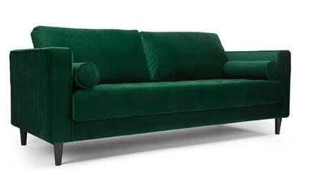 canapé design en velours vert canapé 3 places