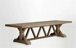 Table Ancienne De Ferme : table de ferme table de campagne vintage grande bois bois ancien naturel r tro contemporaine ~ Dode.kayakingforconservation.com Idées de Décoration