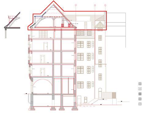 grundriss schnitt ansicht theodorstra 223 e weitsicht in allen belangen 300 quadratmeter blauhaus architekten