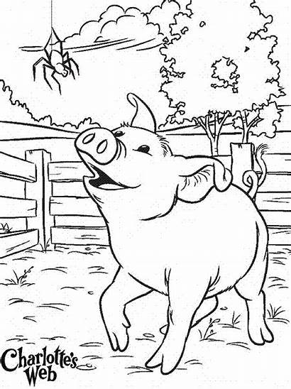 Coloring Charlotte Web Pages Printable Charlottes Colouring