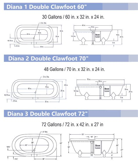 Clawfoot Tub Sizes by Ended Quot Duet Quot Freestanding Bathtubs