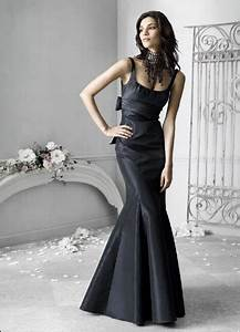 black evening wedding party dress sang maestro With black dress evening wedding