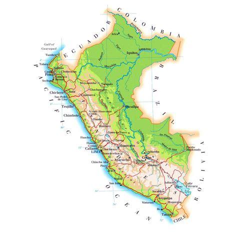 peru maps printable maps  peru