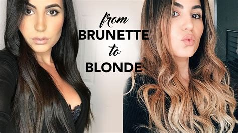 Before And After To Brown Hair by Balayage Painted Hair Transformation Before After